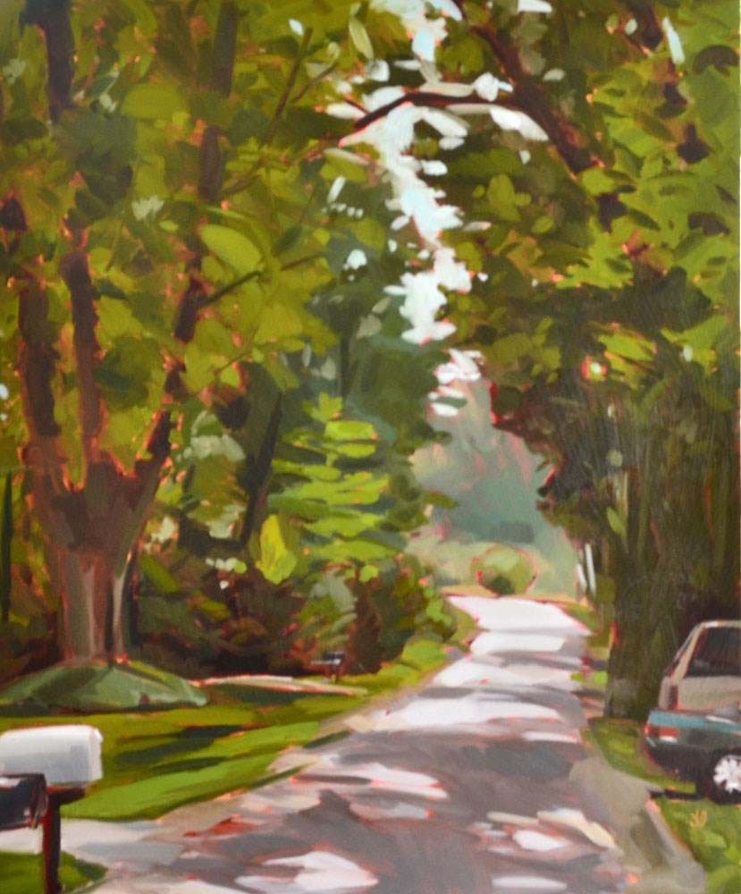 """Morning Stroll"" original fine art by Jessica Green"