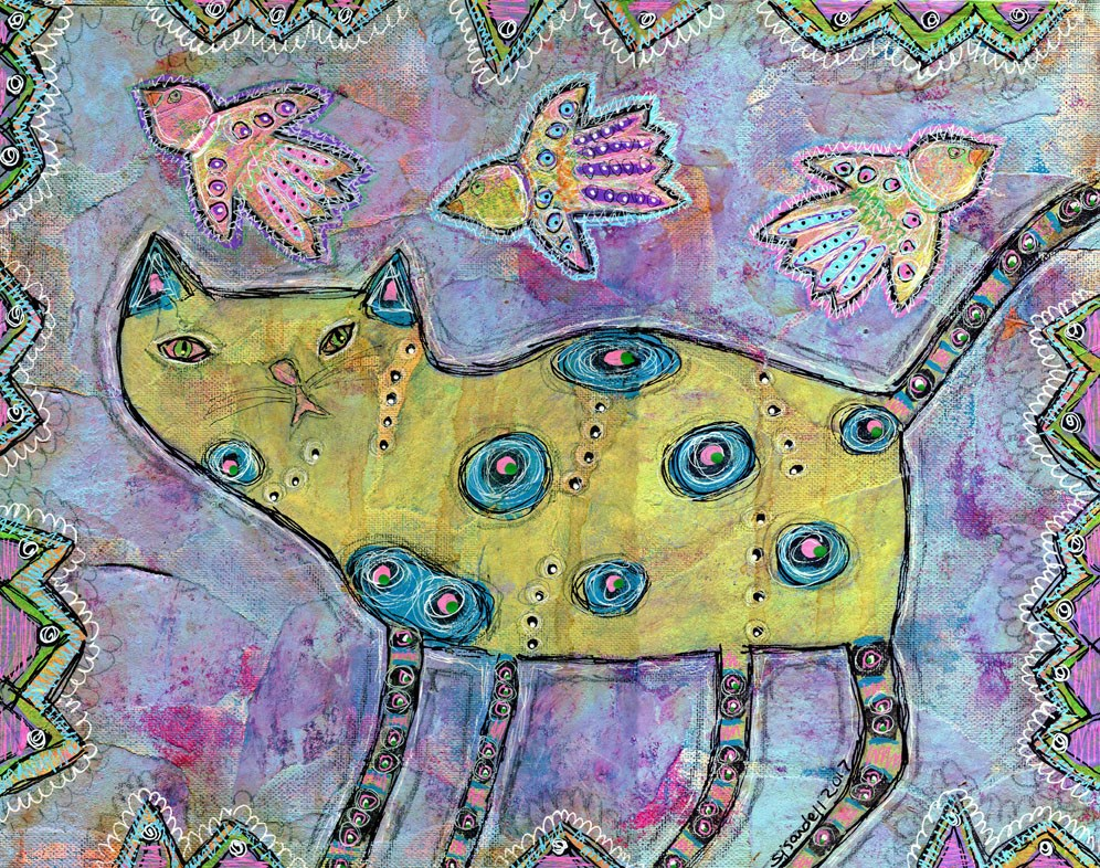"""Yellow Cat"" original fine art by Sonja Sandell"