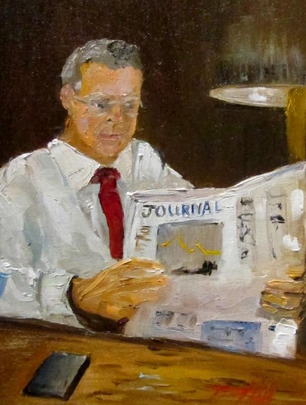 """Morning Paper"" original fine art by Delilah Smith"