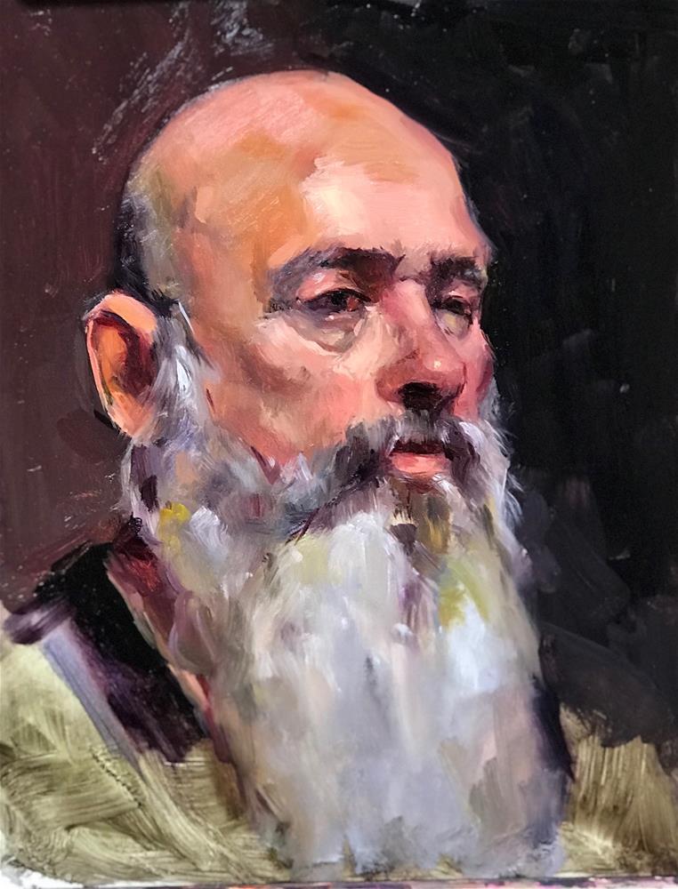 """The Beard "" original fine art by Laurie Johnson Lepkowska"