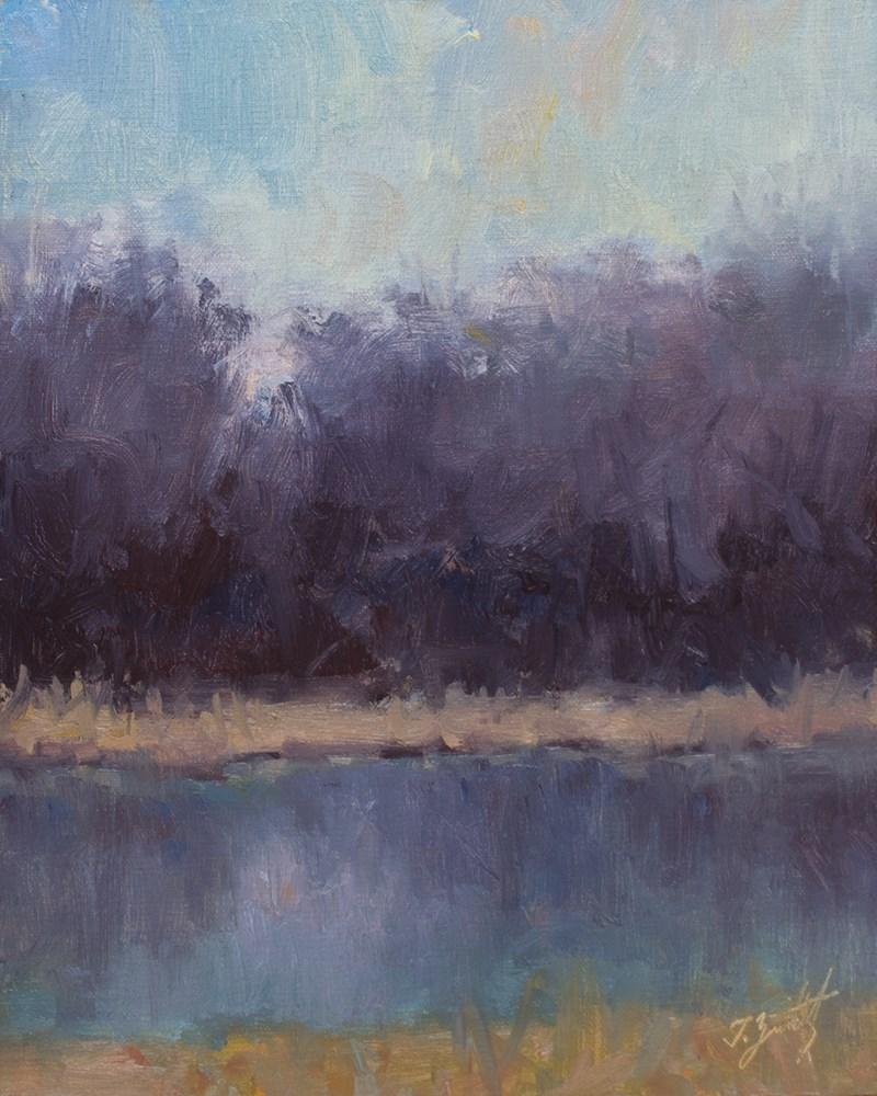 """Cerulean Grace"" original fine art by Todd Zuithof"