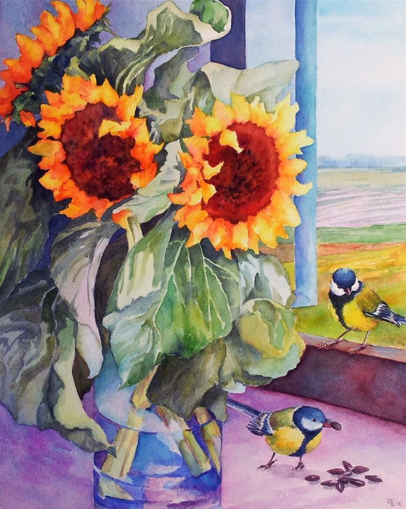 """Unexpected guests"" original fine art by Olga Touboltseva-Lefort"