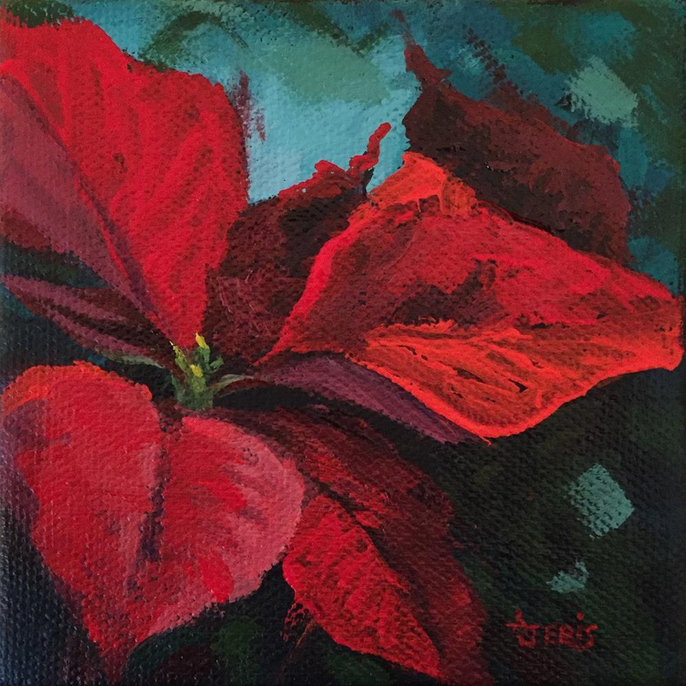 """Poinsettia I"" original fine art by Andrea Jeris"