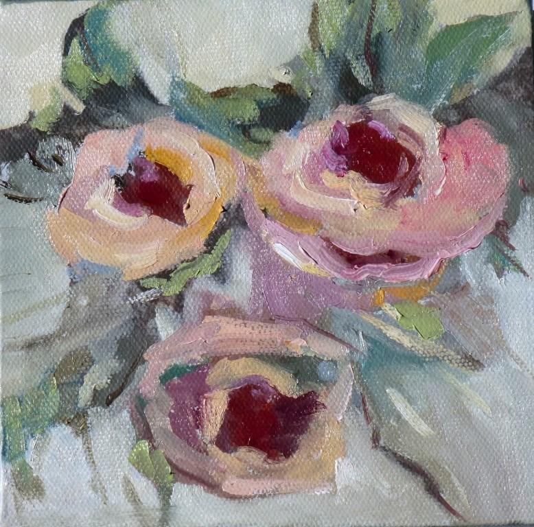 """Three Roses 14033"" original fine art by Nancy Standlee"