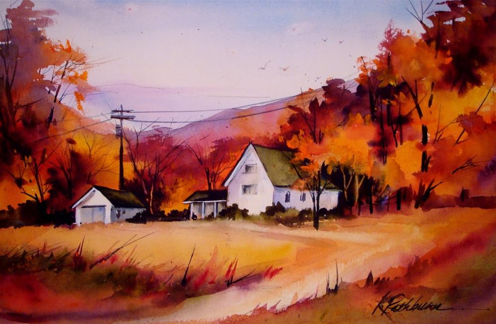 """Fall in INdiana"" original fine art by Kathy Los-Rathburn"