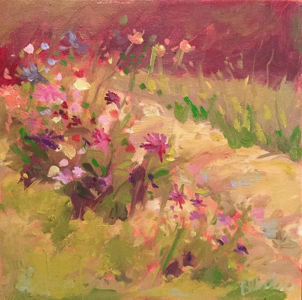 """""""Garden Dance"""" original fine art by Barb Walker"""