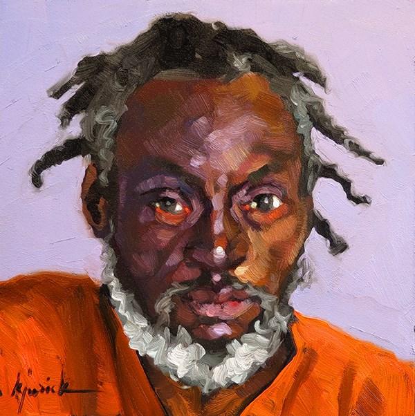 """200 Faces, No. 123"" original fine art by Karin Jurick"