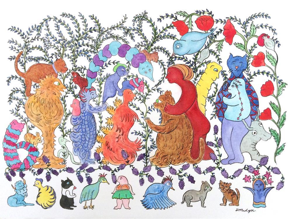 """Happy Family"" original fine art by Susan Medyn"