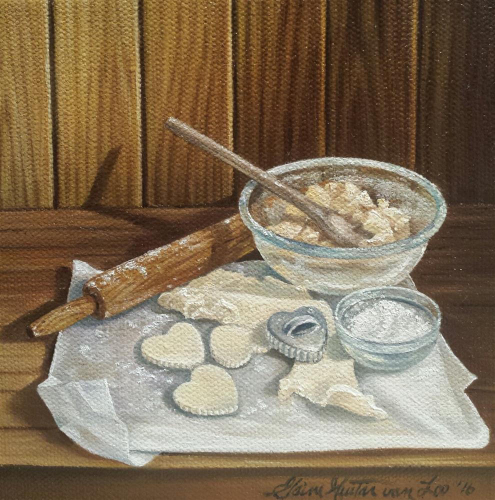"""""""Grandma's Cookies"""" original fine art by Elaine Guitar van Loo"""