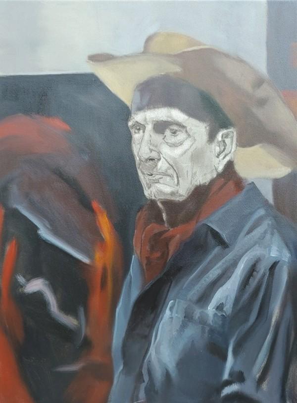 """""""Figure Painting Class Pose 4 - Day 2"""" original fine art by Edward Watson"""