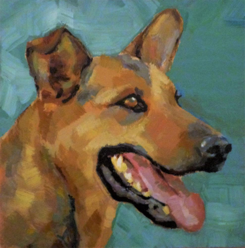 """German shepherd"" original fine art by Maria Z."