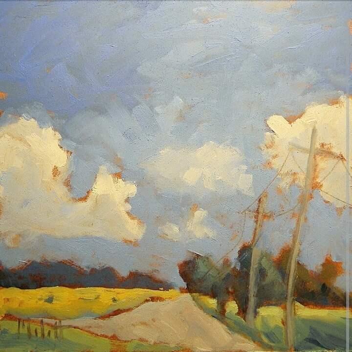 """Countryside Cruise Summer Spring Landscape Original Oil Painting"" original fine art by Heidi Malott"