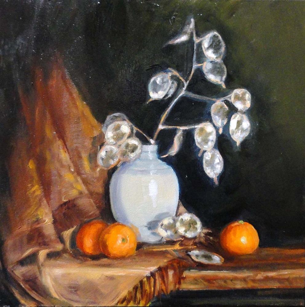 """""""Clementines & Lunaria (Redux)"""" original fine art by Cietha Wilson"""