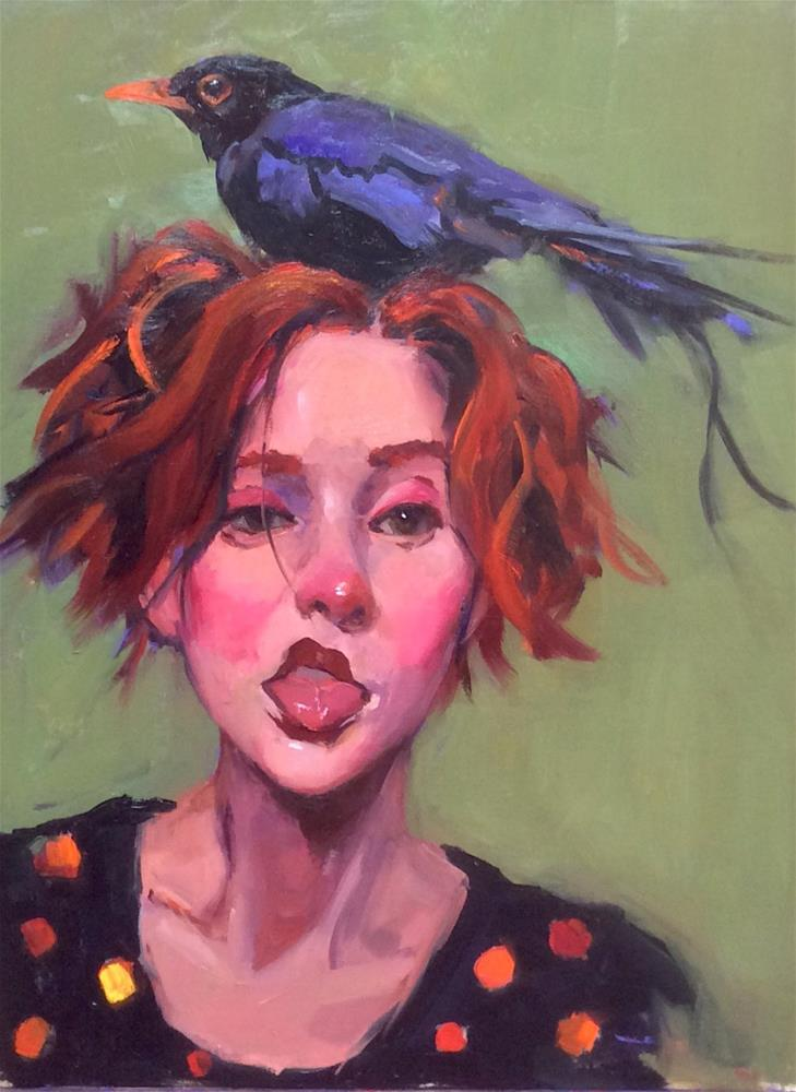 """""""Two Birds of a Feather"""" original fine art by Laurie Johnson Lepkowska"""
