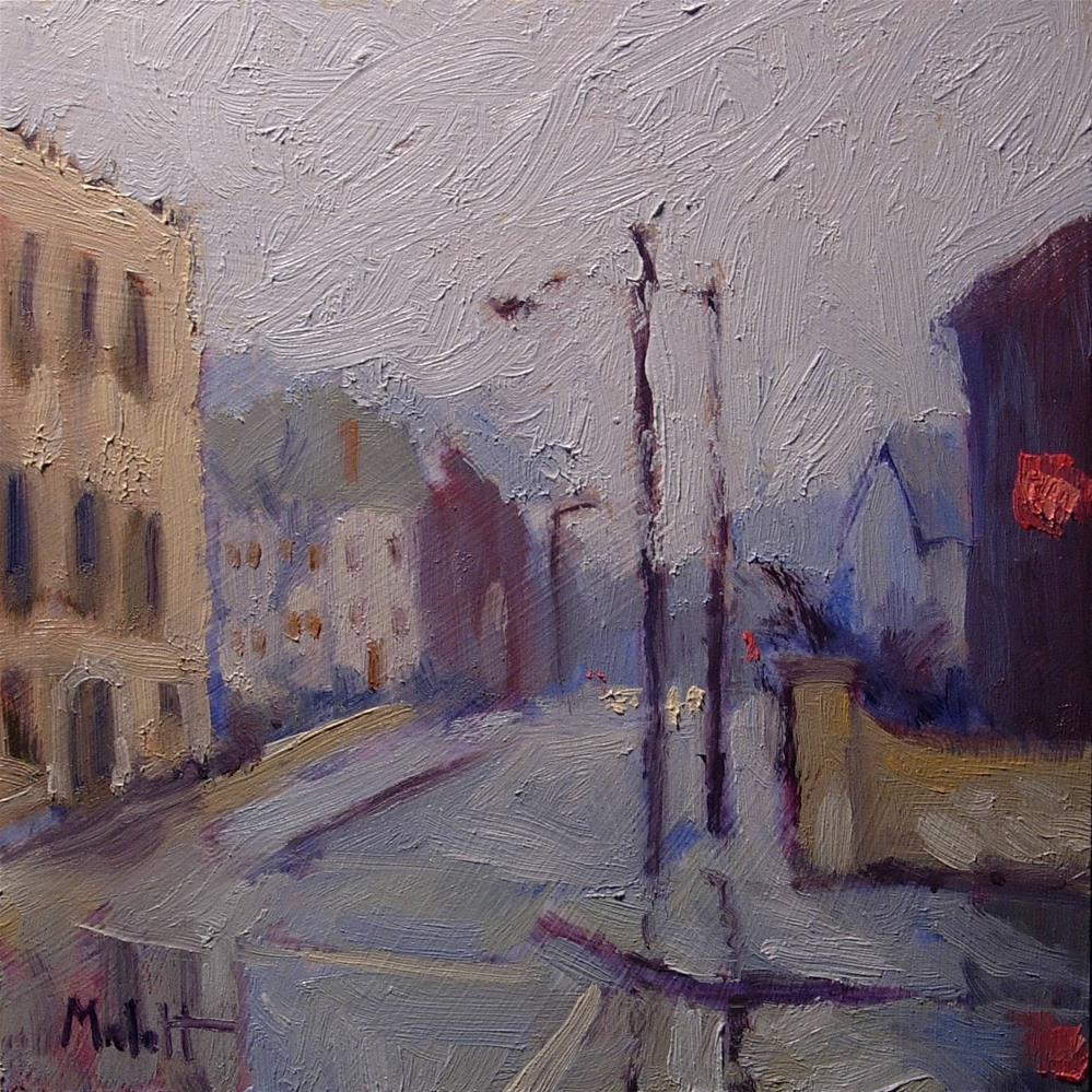 """Rainy Monday Urban Landscape Original Oil Painting"" original fine art by Heidi Malott"