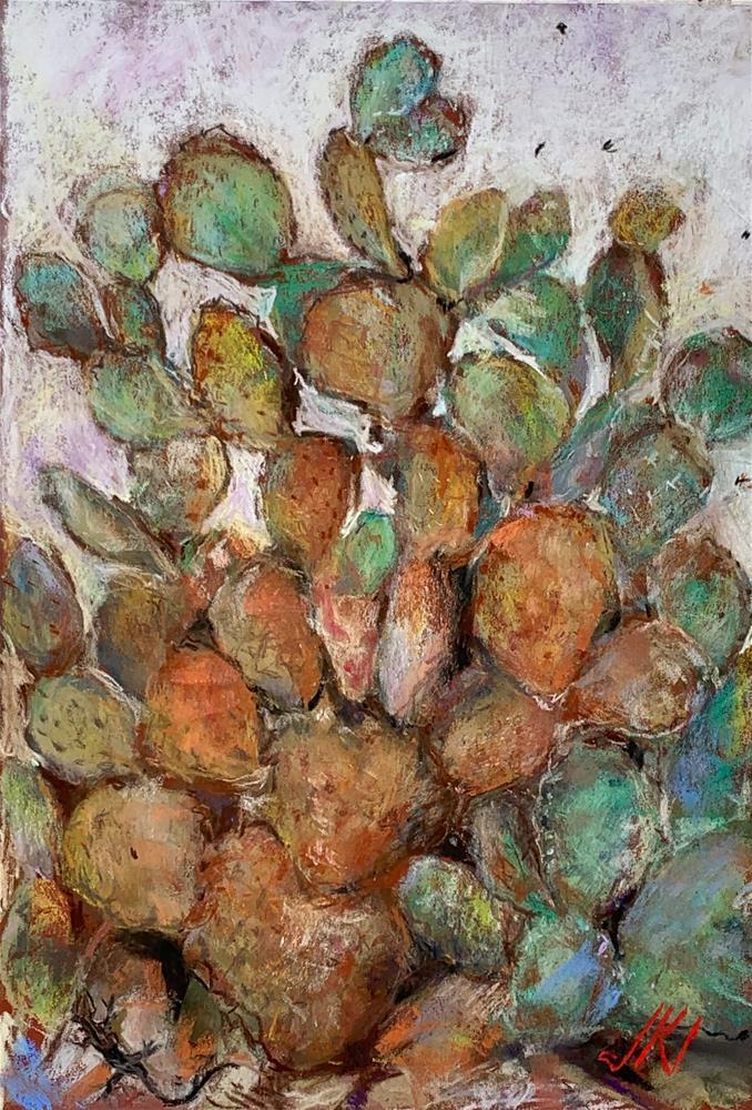 """Lizard Cacti Bugs"" original fine art by Jean Krueger"