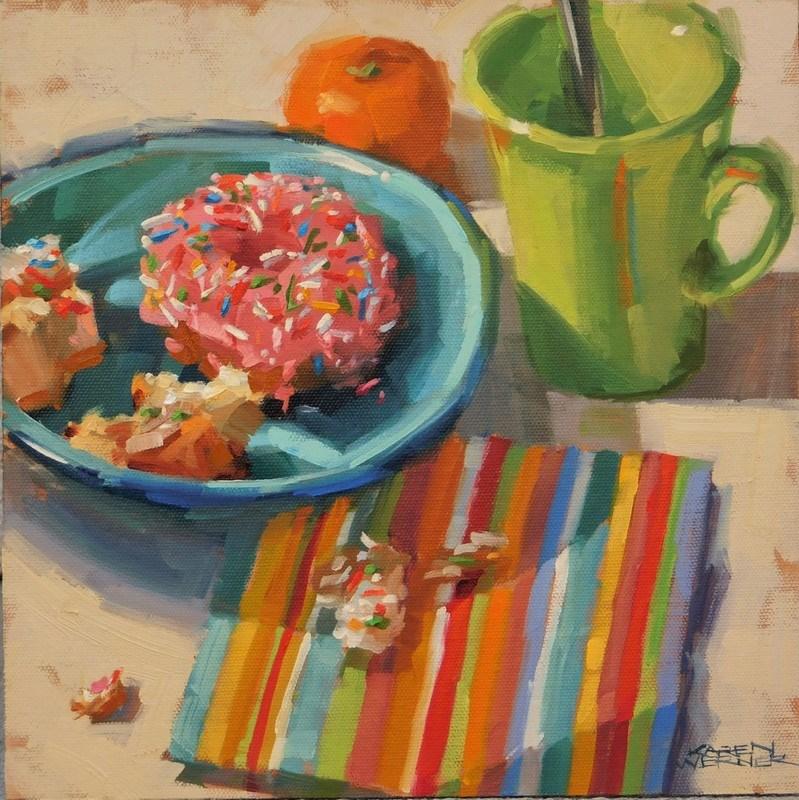 """""""Sprinkles & Stripes"""" original fine art by Karen Werner"""
