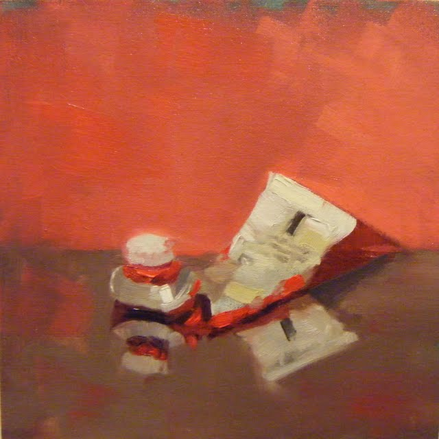 """CAD RED"" original fine art by Helen Cooper"