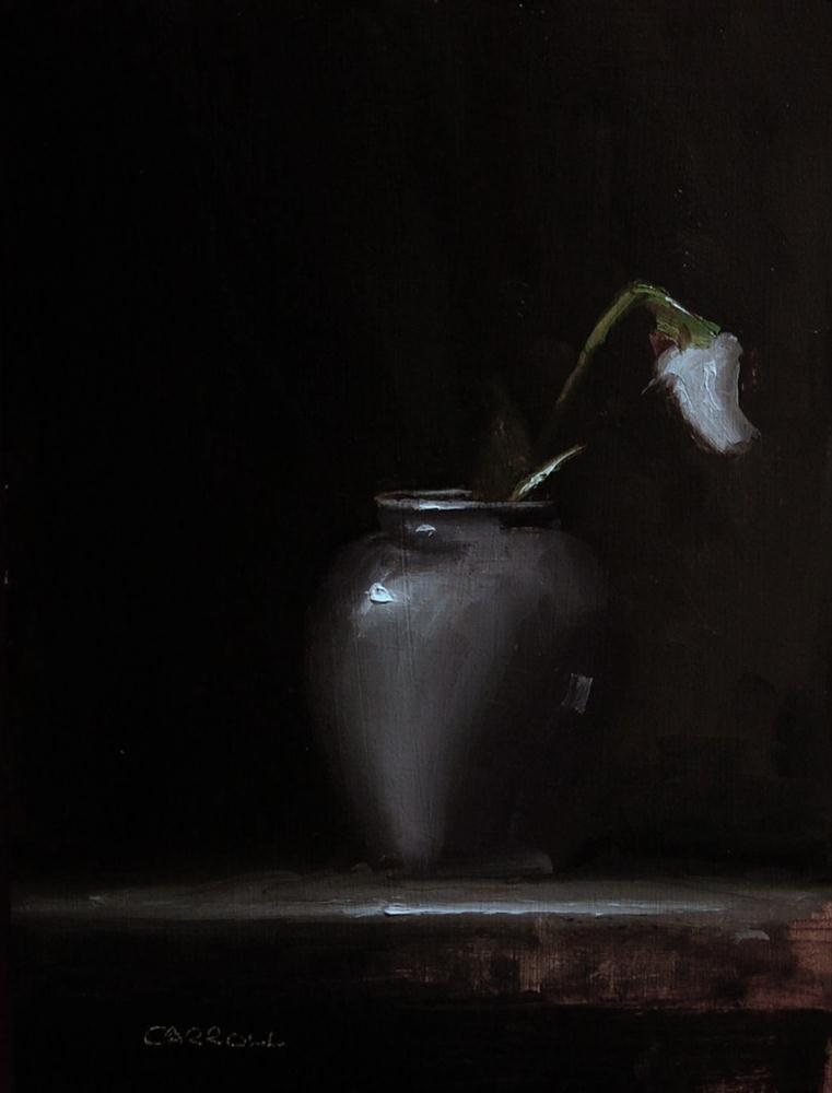 """Vase with Tulip"" original fine art by Neil Carroll"