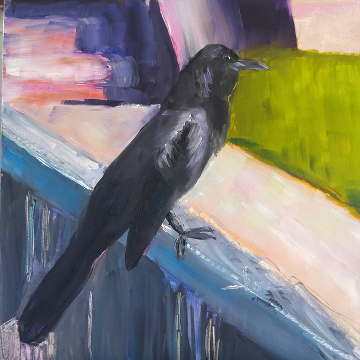 """Grackle"" original fine art by Lou Belcher"