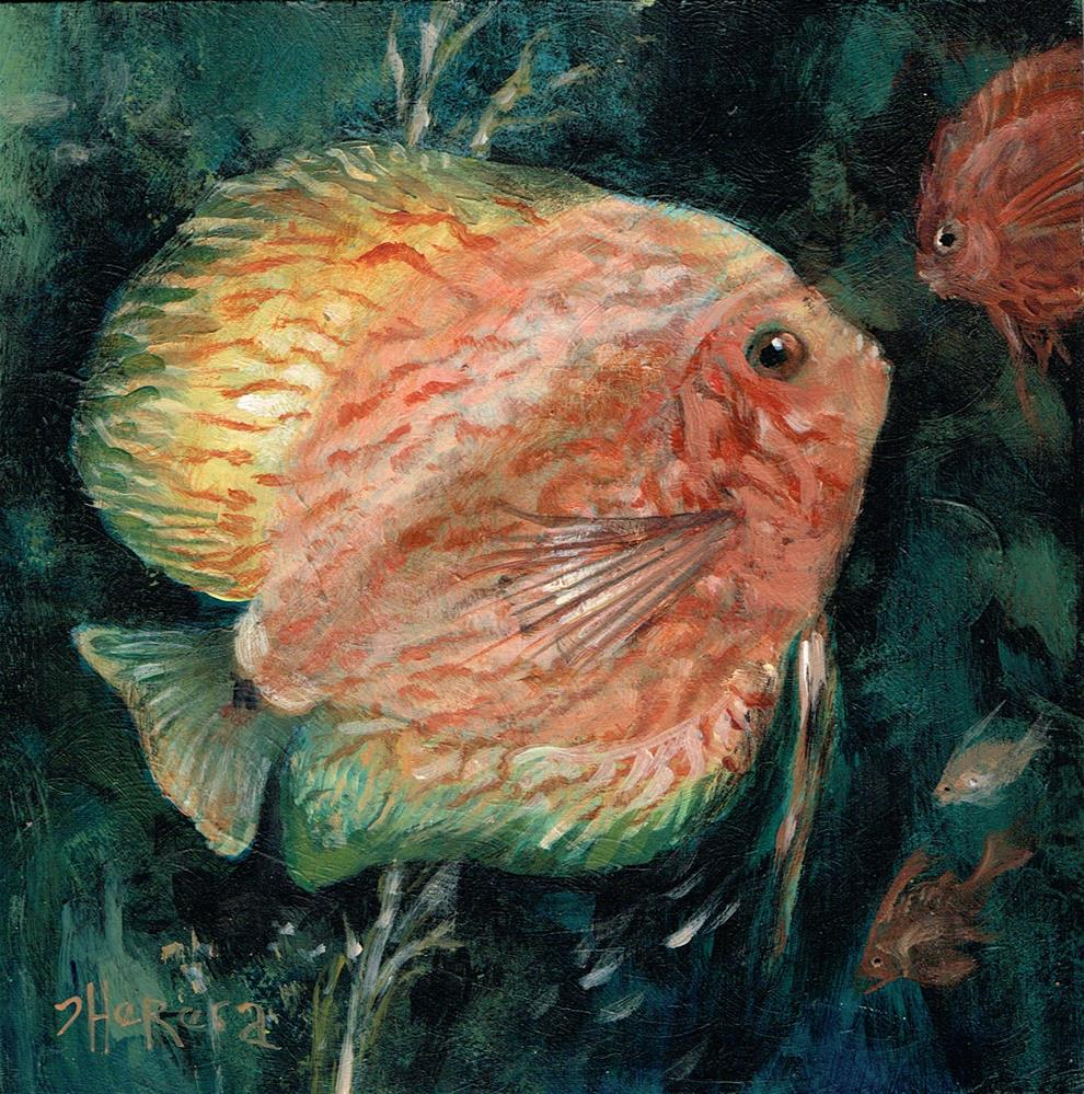 """Fishy Friends"" original fine art by Theresa Taylor Bayer"
