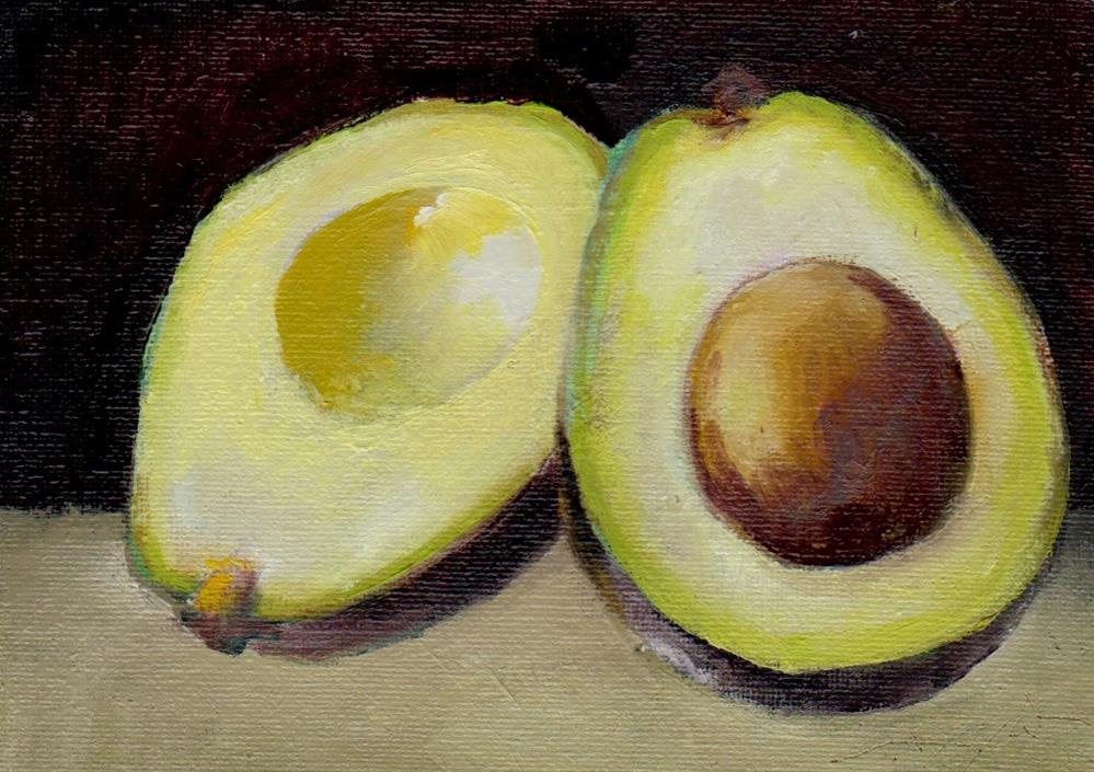 """avocado study"" original fine art by Mark DeBak"