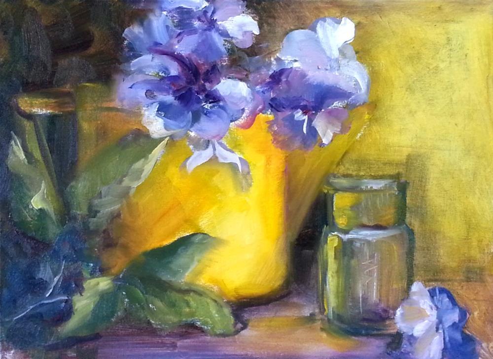 """YELLOW DELIGHT"" original fine art by Ronel Alberts"