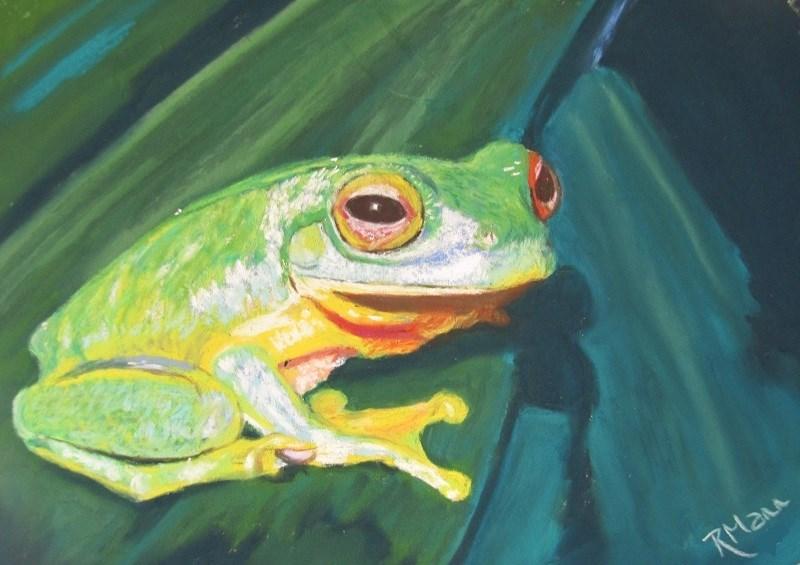 """Tree Frog"" original fine art by Ruth Mann"