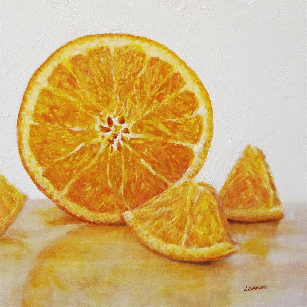 """Orange Center"" original fine art by Linda Demers"