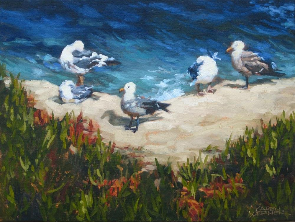 """Cliff Hangers"" original fine art by Karen Werner"
