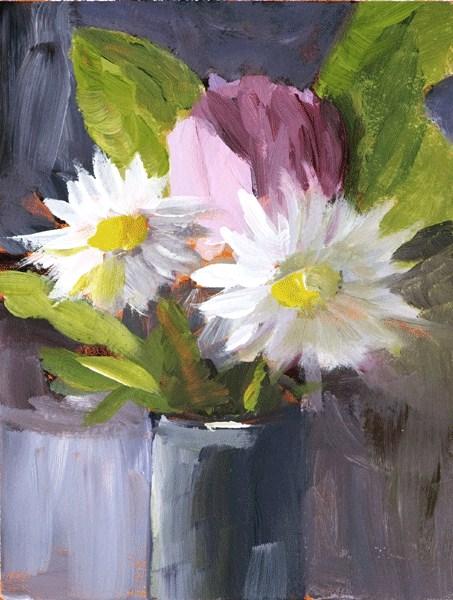 """""""Pink and White"""" original fine art by Anna Vreman"""