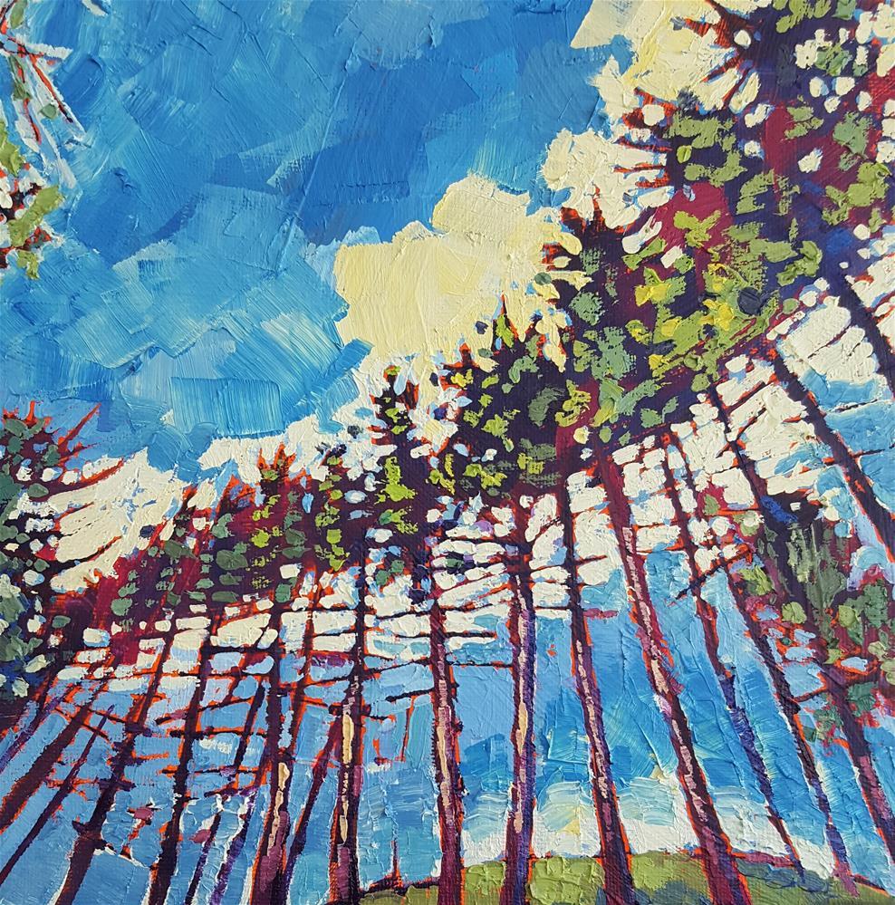 """Yosemite Pine Choir"" original fine art by Bhavna Misra"
