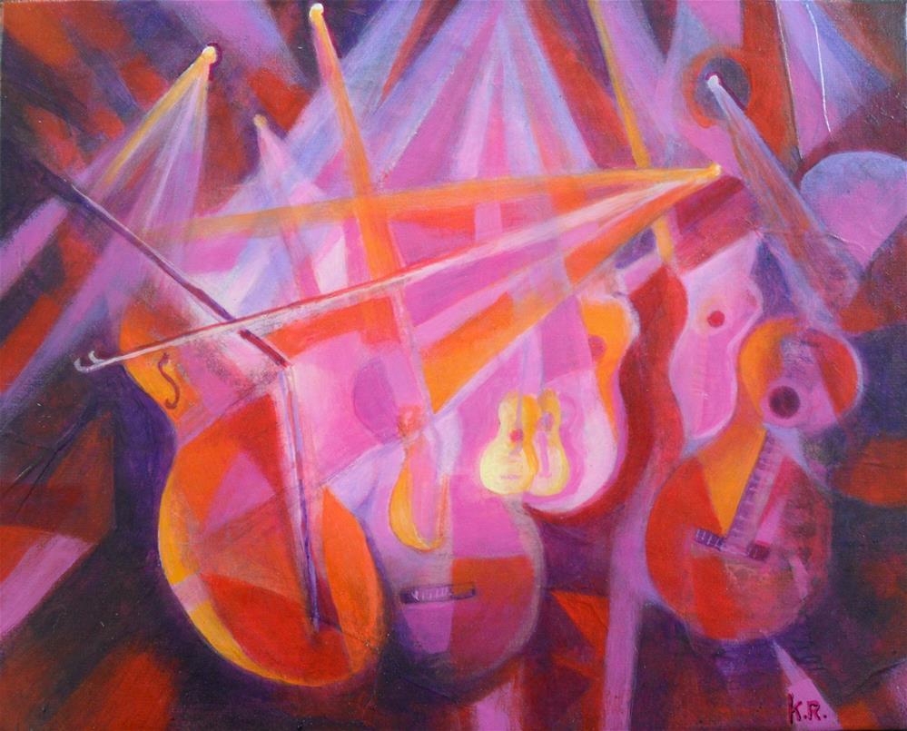 """Strike Up the Band"" original fine art by Karen Roncari"