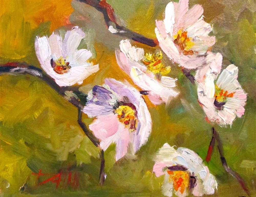 """Spring Blossoms No. 3"" original fine art by Delilah Smith"