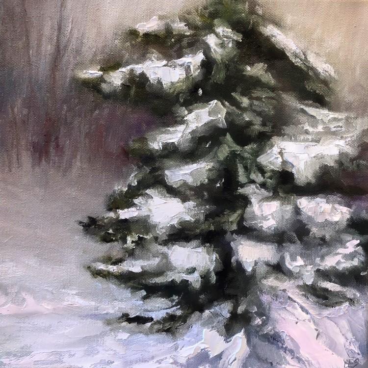 """That Snowstorm"" original fine art by Christine E. S. Code"