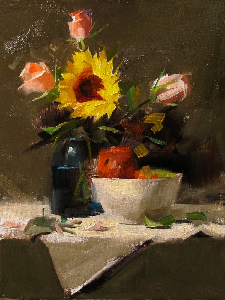 """""""Demo at Montgomery 2"""" original fine art by Qiang Huang"""