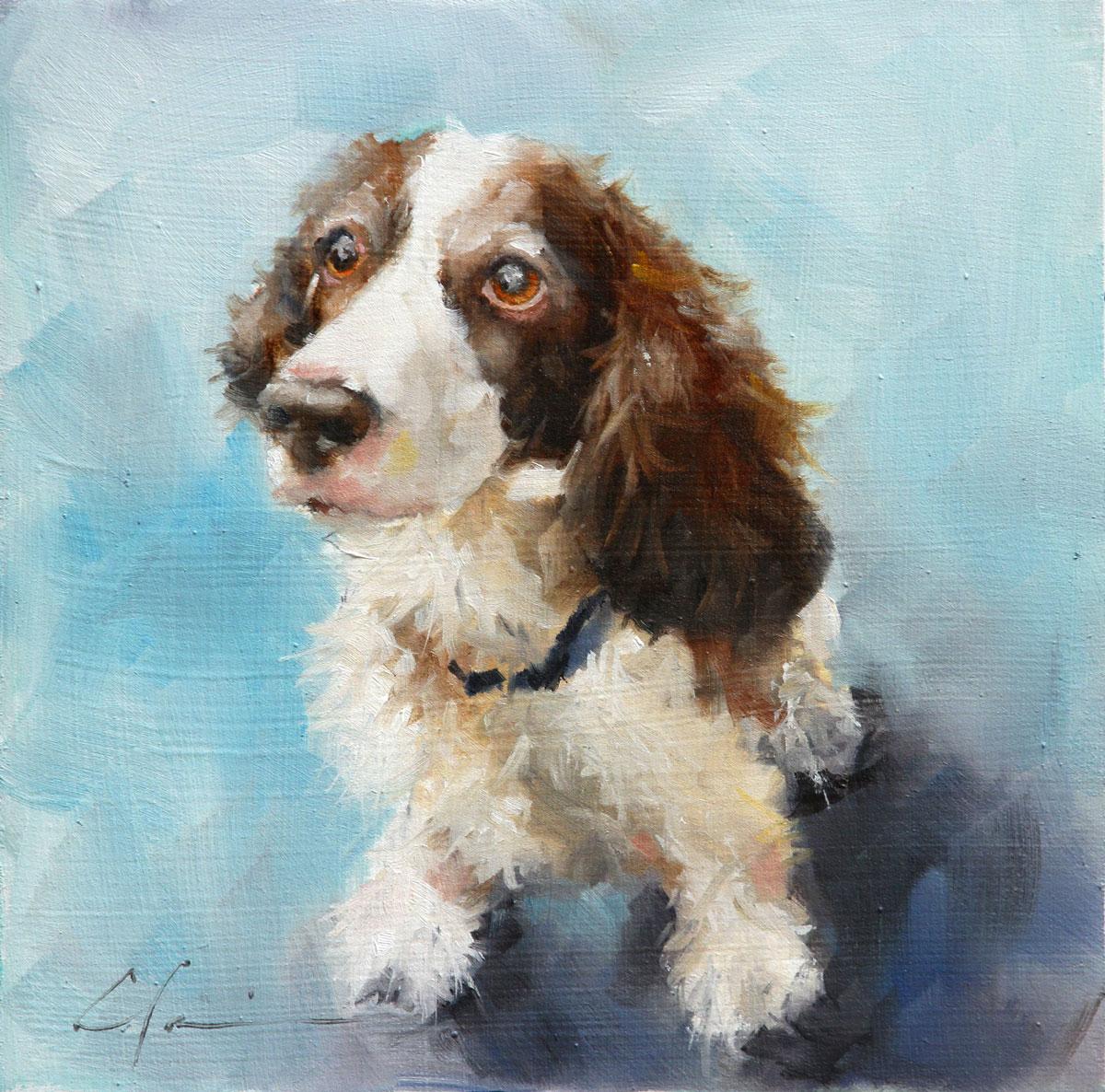 """""""Ginger (lost dog series)"""" original fine art by Clair Hartmann"""