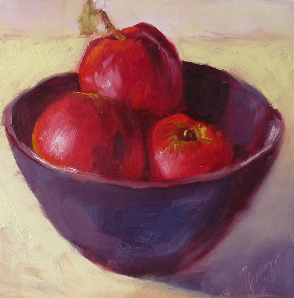 """""""Apples 3 Ways"""" original fine art by Sharman Owings"""