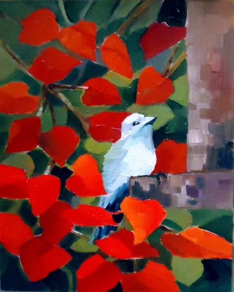 """""""Guest of Honor"""" original fine art by Laurie Mueller"""