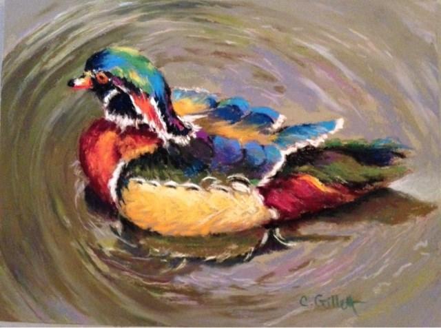"""Goin' With The Flow"" original fine art by Cindy Gillett"