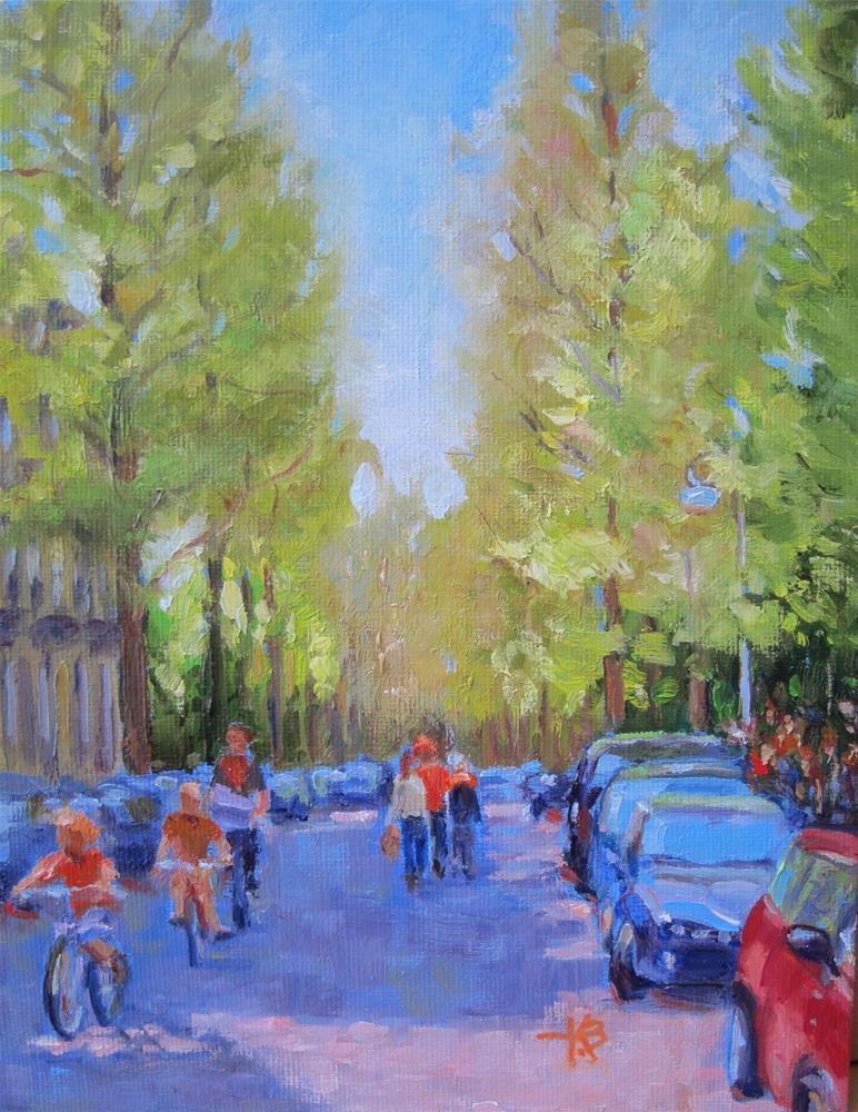 """Queens Day, Amsterdam"" original fine art by Kathy Bodamer"