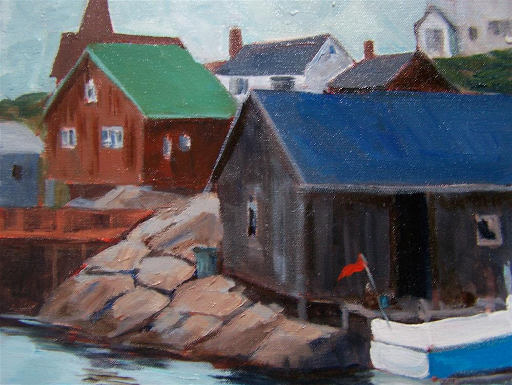 """Peggy' Cove, Nova Scotia"" original fine art by Joan Reive"