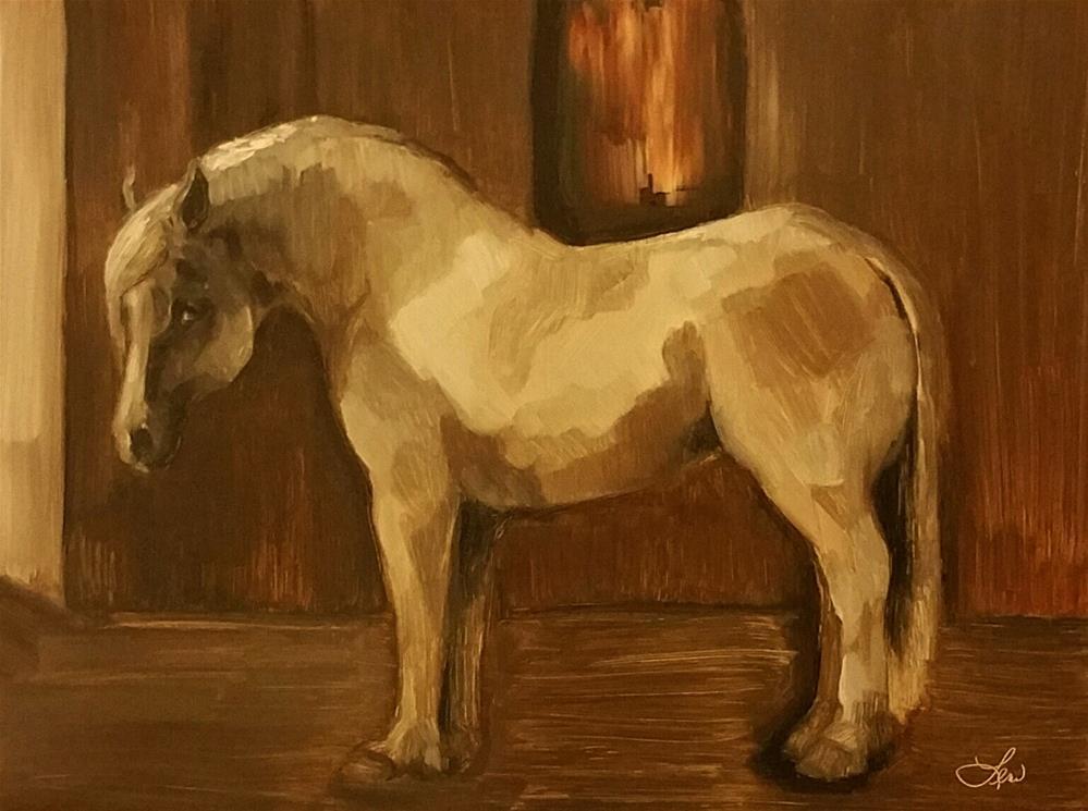 """After The Ride"" original fine art by Leni Tarleton"