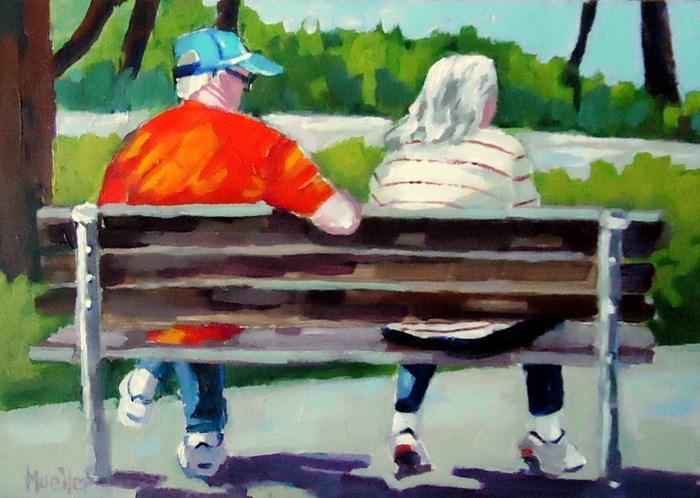 """You Look Pretty"" original fine art by Laurie Mueller"
