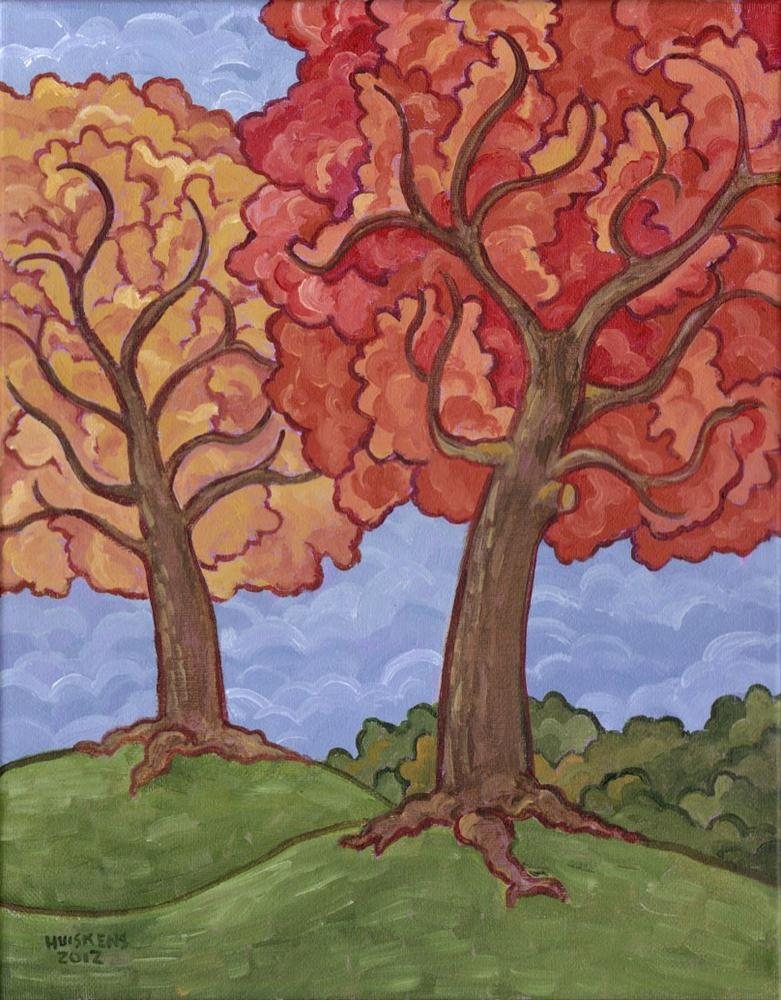 """Autumn Trees"" original fine art by Randal Huiskens"