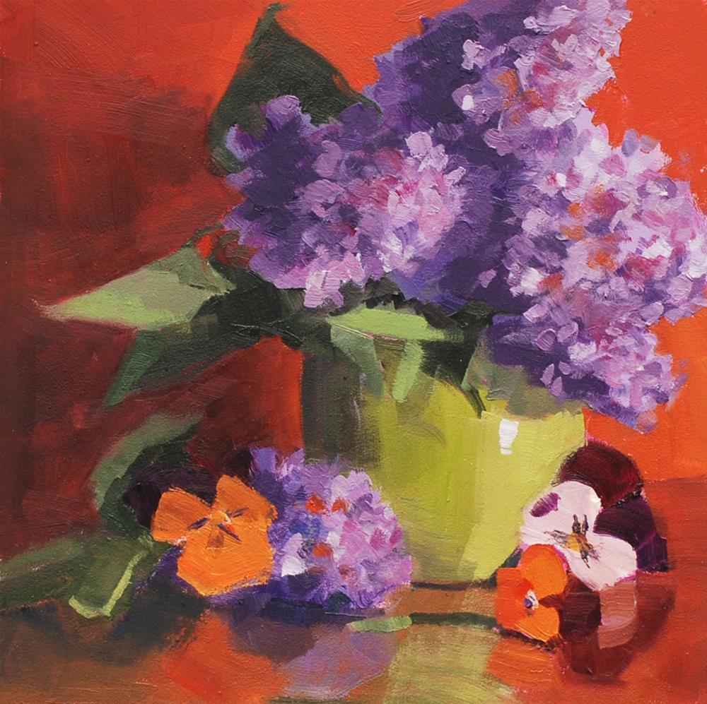 """Nancy's Lilacs"" original fine art by Susan McManamen"