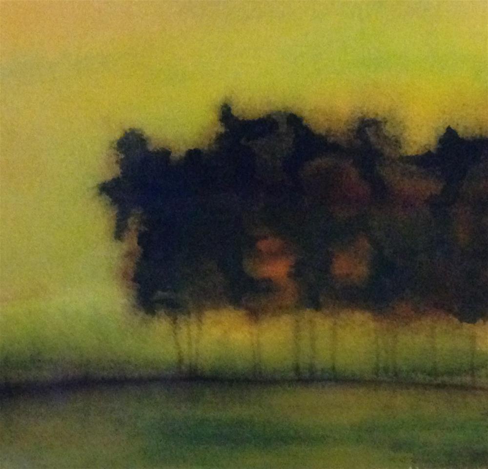"""August Evening"" original fine art by Karen Collins"