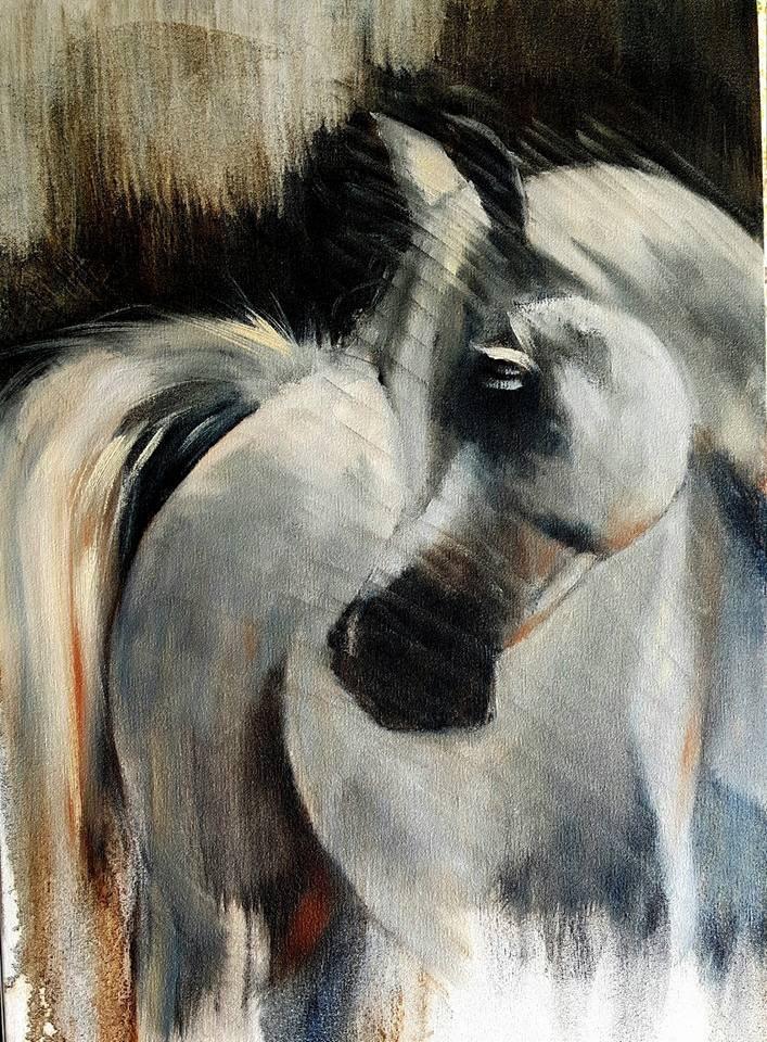 """""""Showing off"""" original fine art by Rentia Coetzee"""