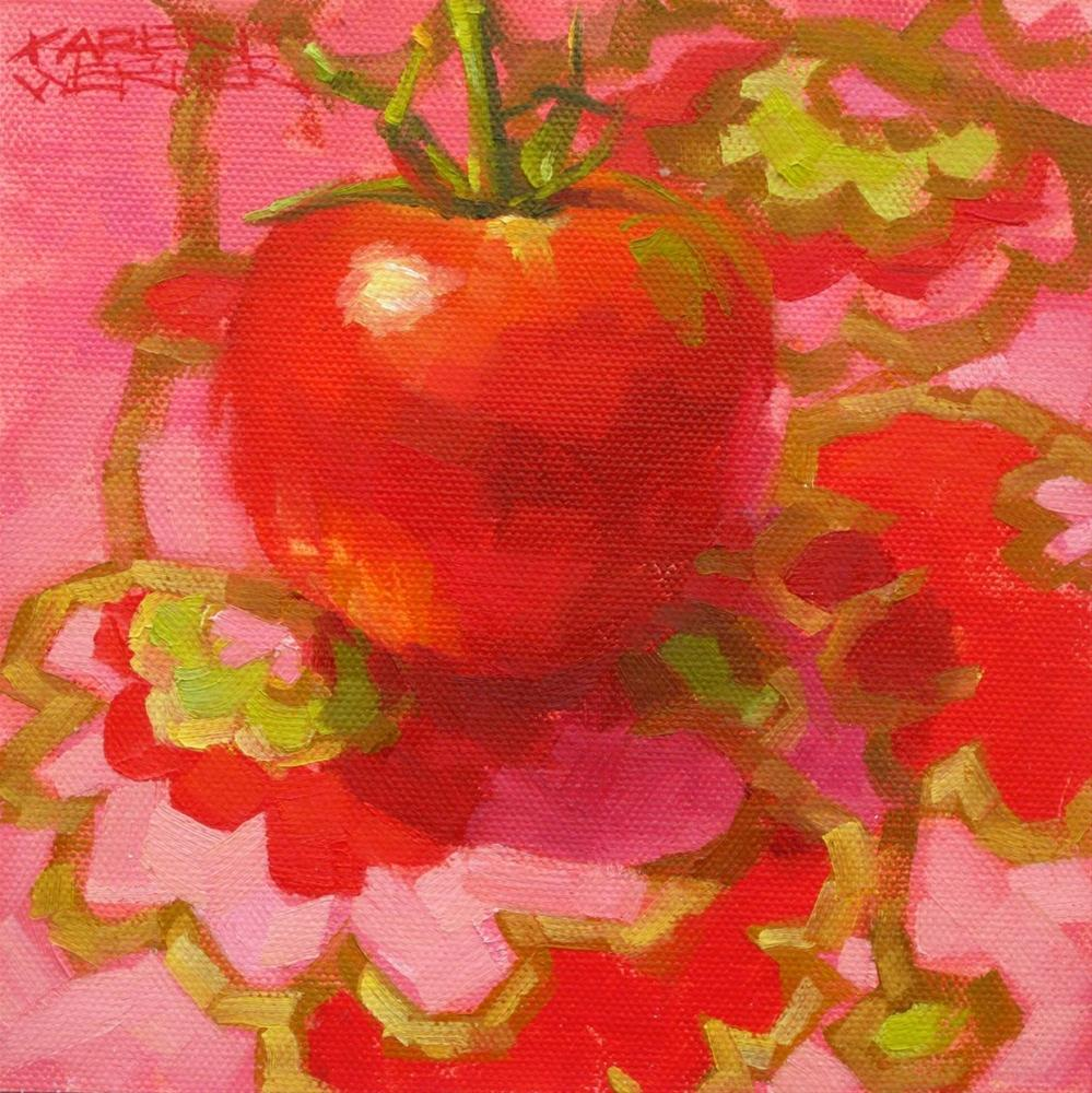 """Party Girl Tomato"" original fine art by Karen Werner"