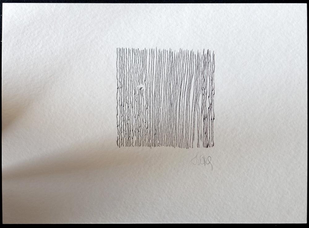 """""""IN DER ZEIT SITZEN BLÄTTER FALLEN---SITTING IN TIME LEAVES FALL"""" original fine art by Craig Svare"""